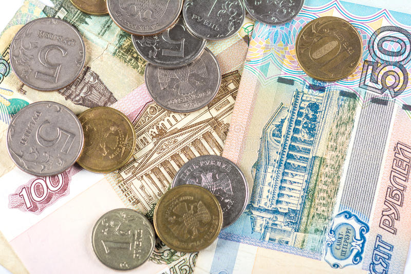 Russian national currency devaluation. Devaluation of national currency of Russian Federation royalty free stock photography