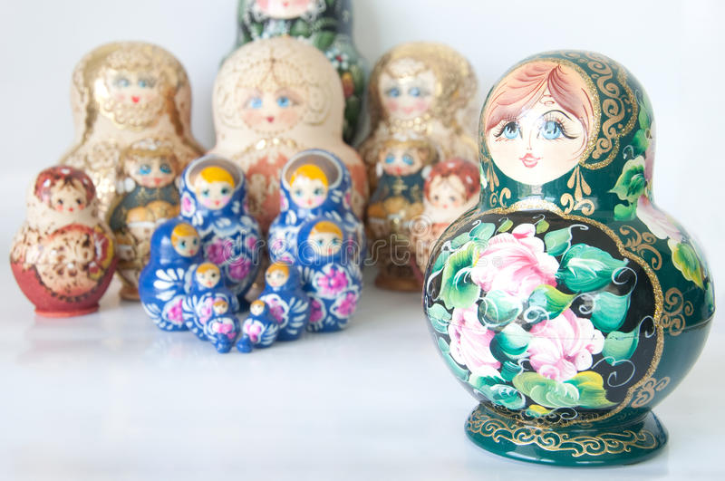 Russian national souvenir on white stock images