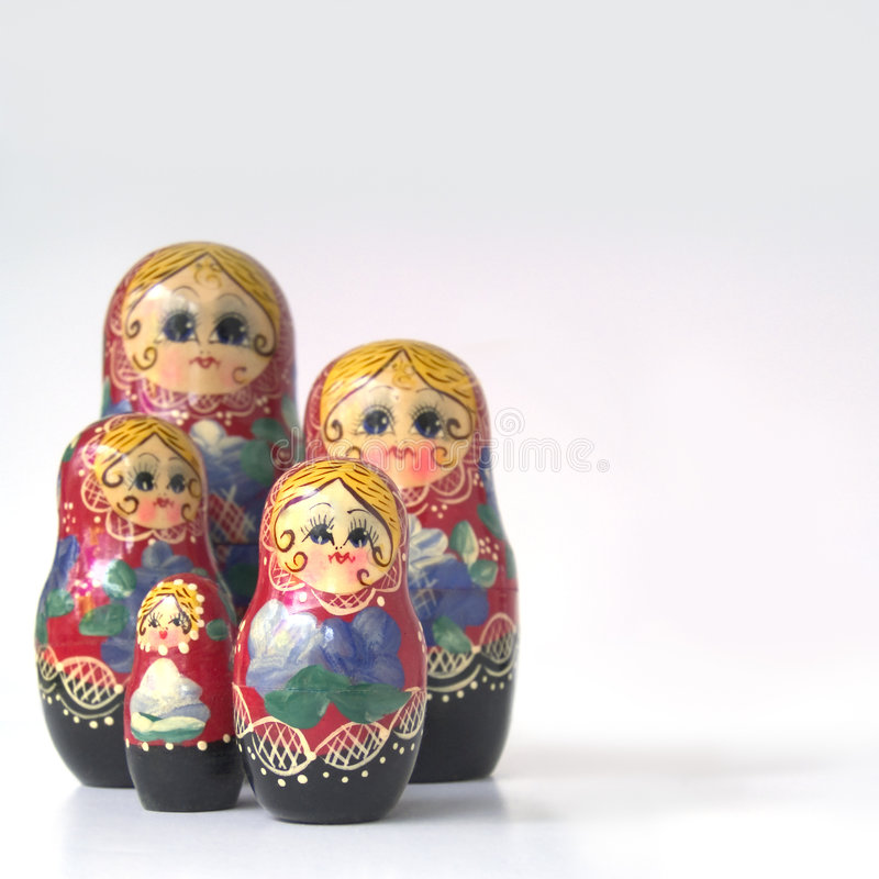 Russian Nested Dolls stock photography
