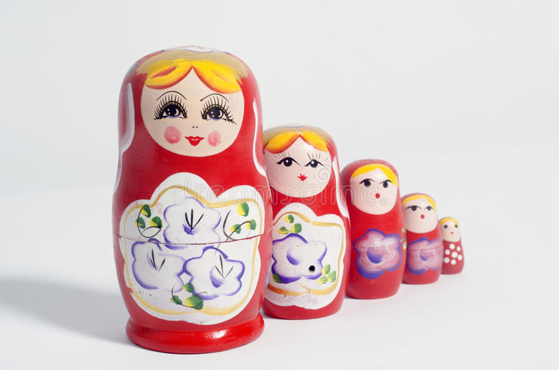 Russian nesting doll. On white background royalty free stock photography
