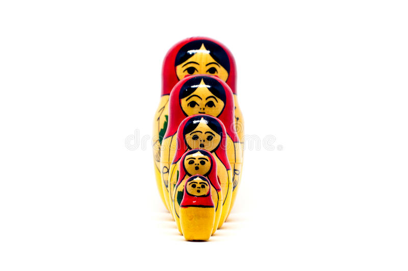 Russian nesting dolls ( babushkas or matryoshkas) stock image