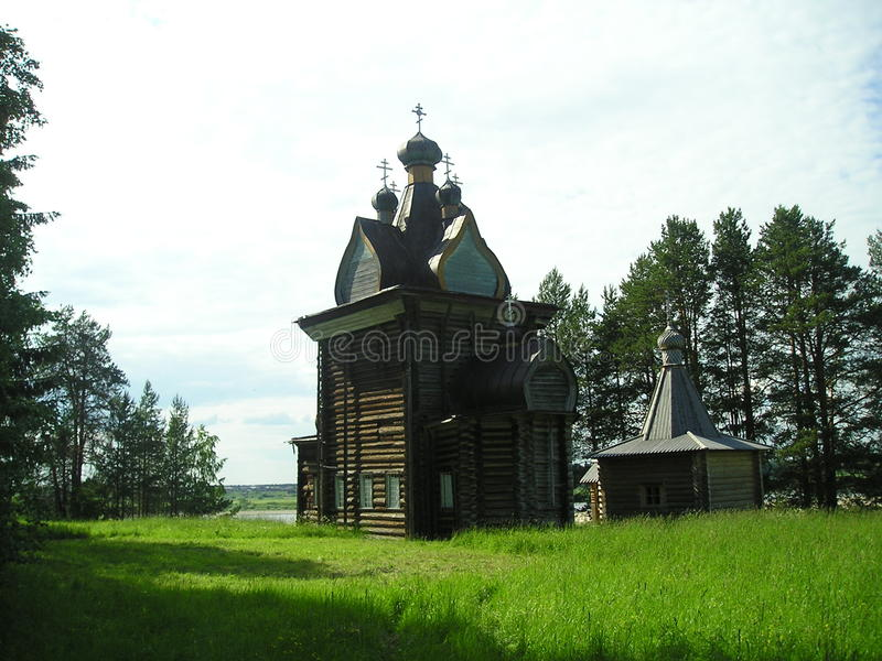 Russian north. Wooden churches royalty free stock photo