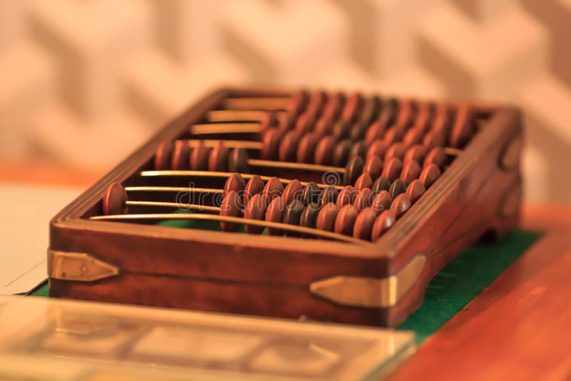 Russian Old Abacus stock photos