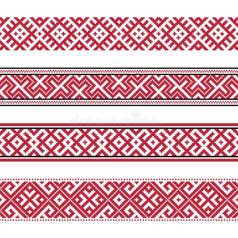 Russian old embroidery and patterns vector illustration