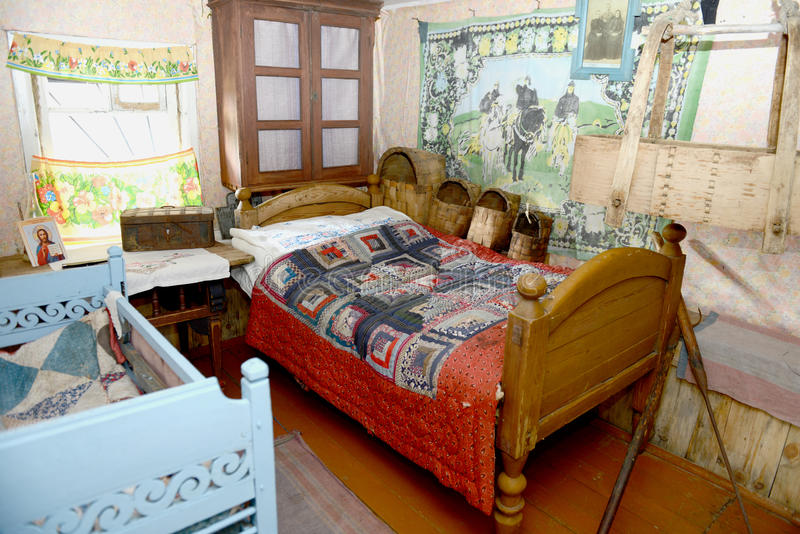 Russian old house interior editorial photo. Image of indoor - 26571126