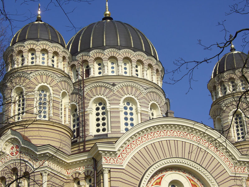 Download Russian Orthodox Cathedral stock image. Image of outside - 4833821