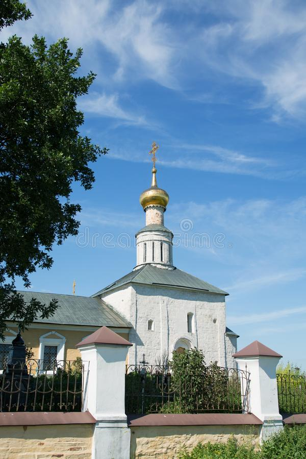 Russian Orthodox Church against a blue sky royalty free stock image