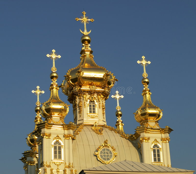 Russian orthodox church cupola royalty free stock images