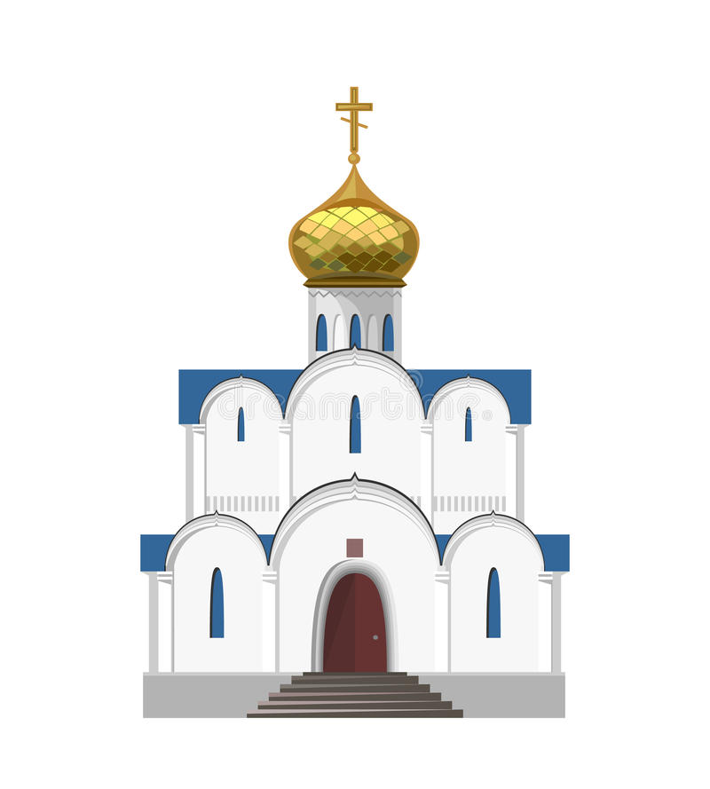 Russian orthodox church icon isolated on white background stock illustration