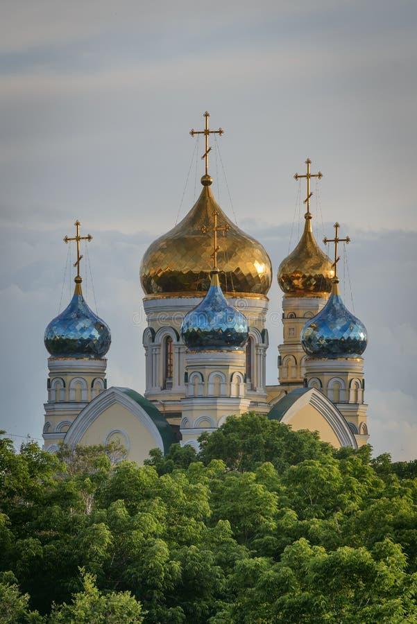 Russian Orthodox Church in Vladivostok. royalty free stock photo