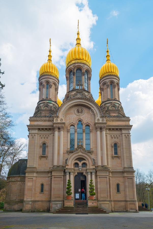 Russian-Orthodox Church in Wiesbaden royalty free stock photography