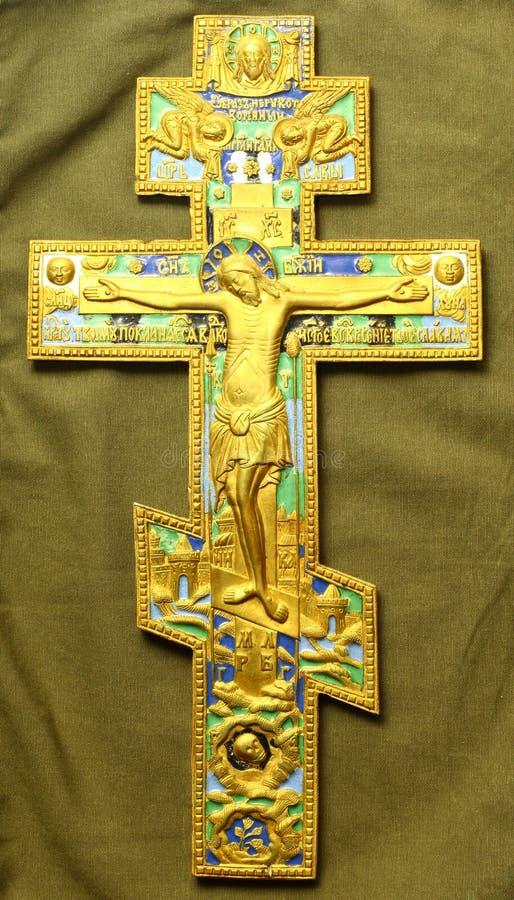 Russian Orthodox cross stock photography