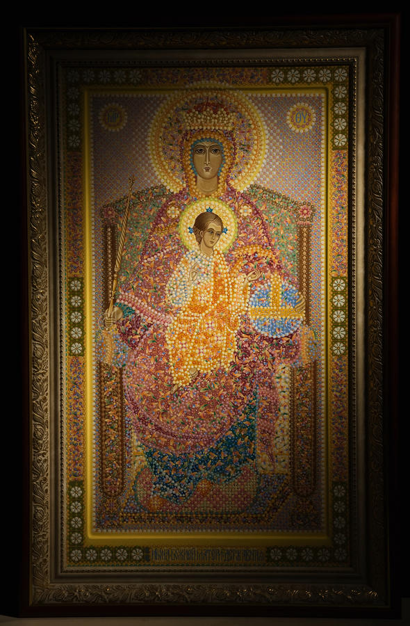 Download Russian Orthodoxy Icon Over Black Stock Image - Image: 19073831