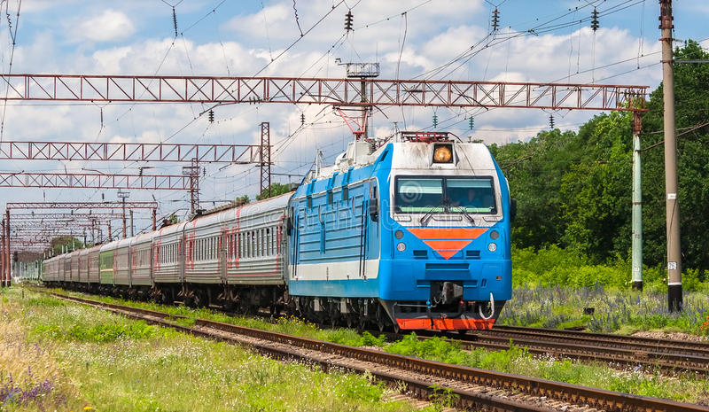 Download Russian passenger train stock photo. Image of current - 25434018