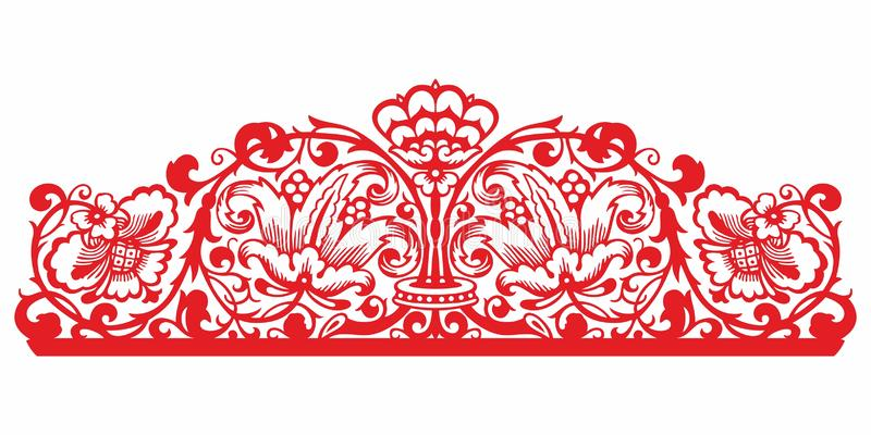 Vintage Ornament vector. Russian style ornament engraving border floral retro pattern. Foliage swirl decorative design element fil. Russian pattern. Vintage royalty free illustration