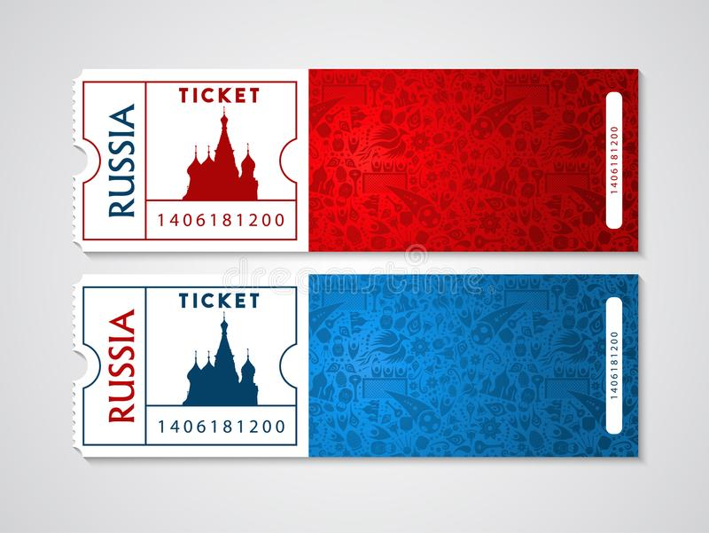 Russia plane tickets for travel and tourism royalty free illustration