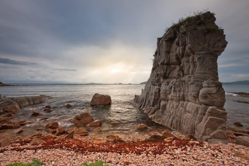 Russian, Primorye, Beautiful Decline On The Sea Stock Photos