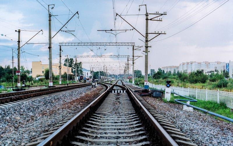 Russian railway royalty free stock photo