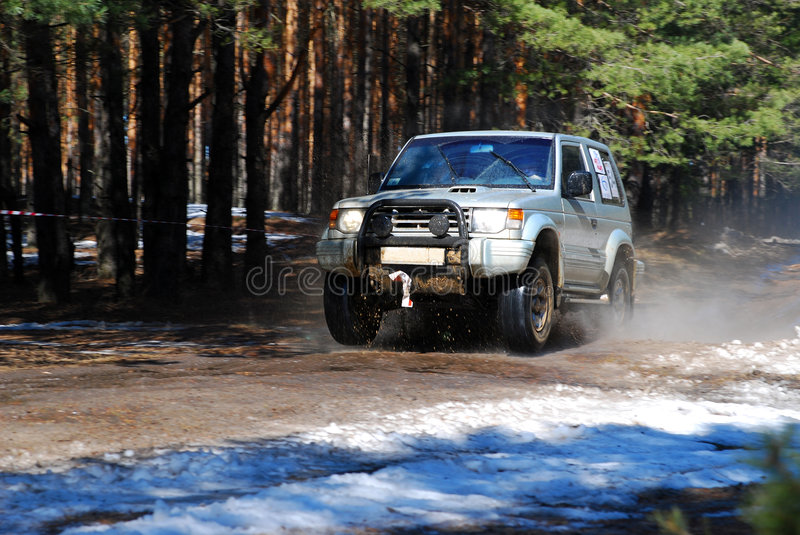 Russian Rally Trophy royalty free stock photography