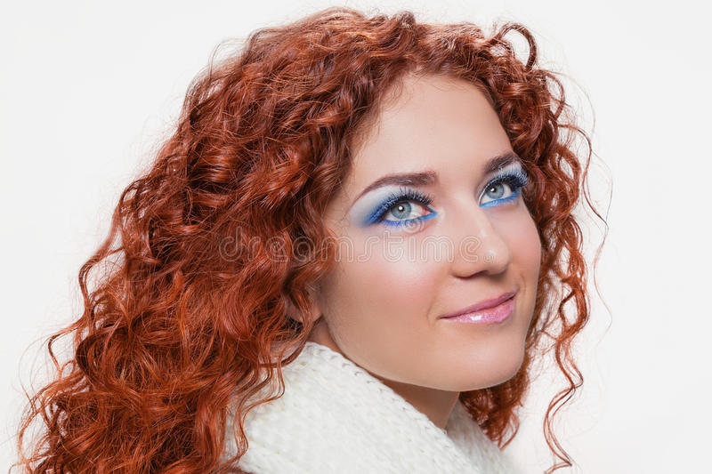 Russian redhead beauty stock photography
