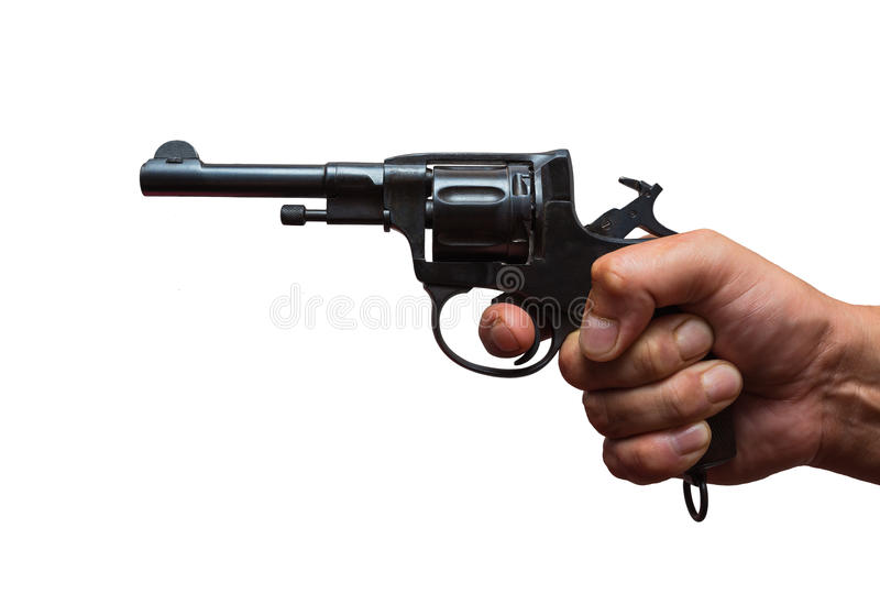 Russian revolver stock images