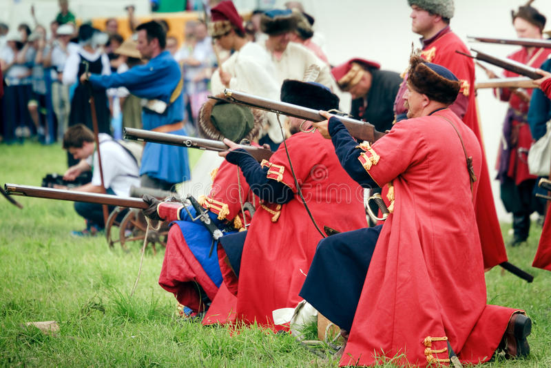 Download Russian Riflemen editorial photography. Image of reenactment - 15295377
