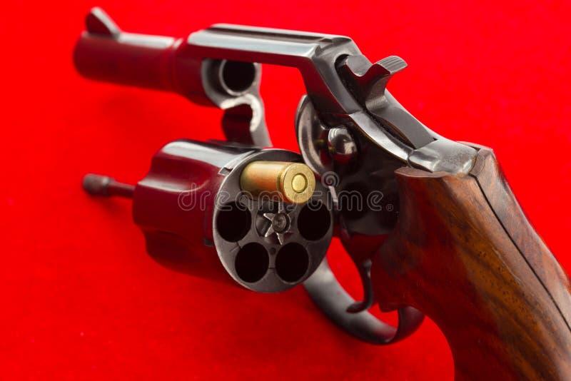Russian roulette concept stock photos