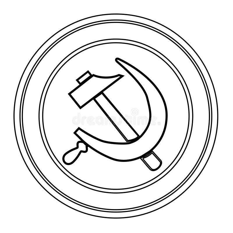 Russian Round Pin Badge royalty free illustration