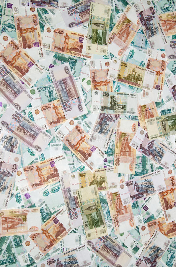 Russian Ruble. Background of Russian money. Ð'ig Money stock photography