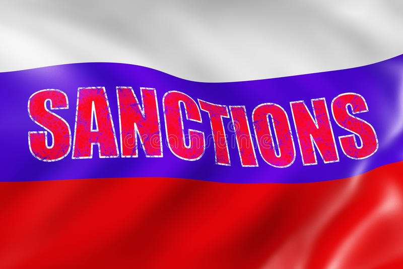 Russian sanctions royalty free illustration