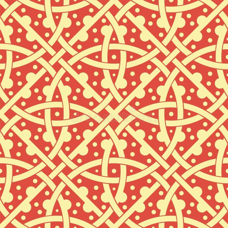 Russian Seamless vector decorative pattern Slavic circles vector illustration