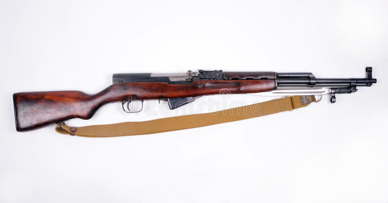 Russian SKS rifle royalty free stock photos