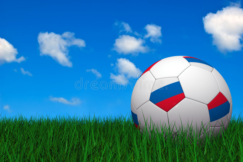 Download Russian soccer ball stock illustration. Illustration of european - 4948224
