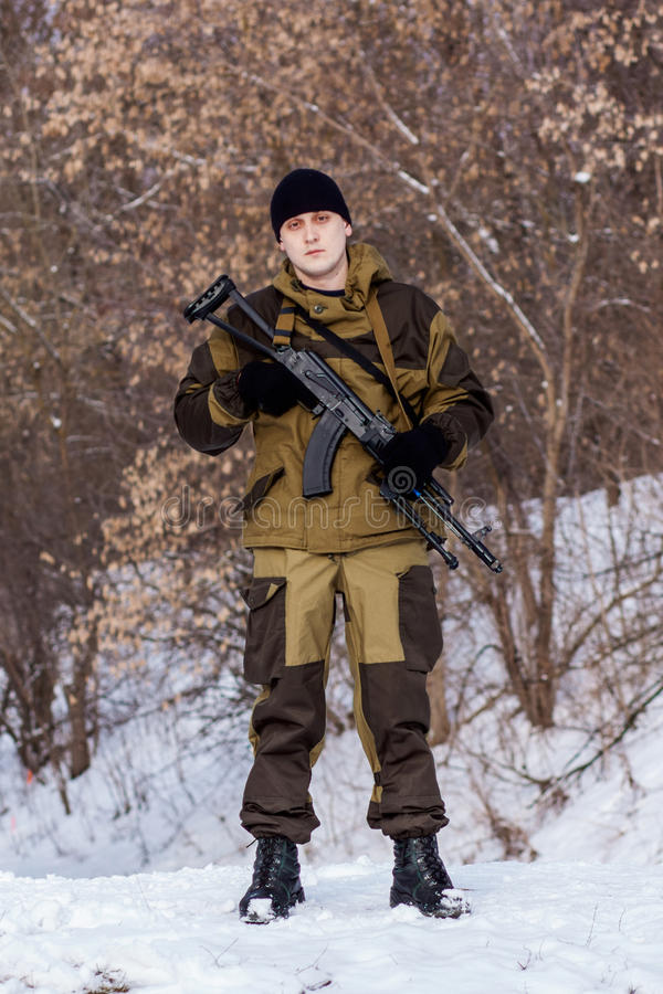 Russian soldier royalty free stock photo