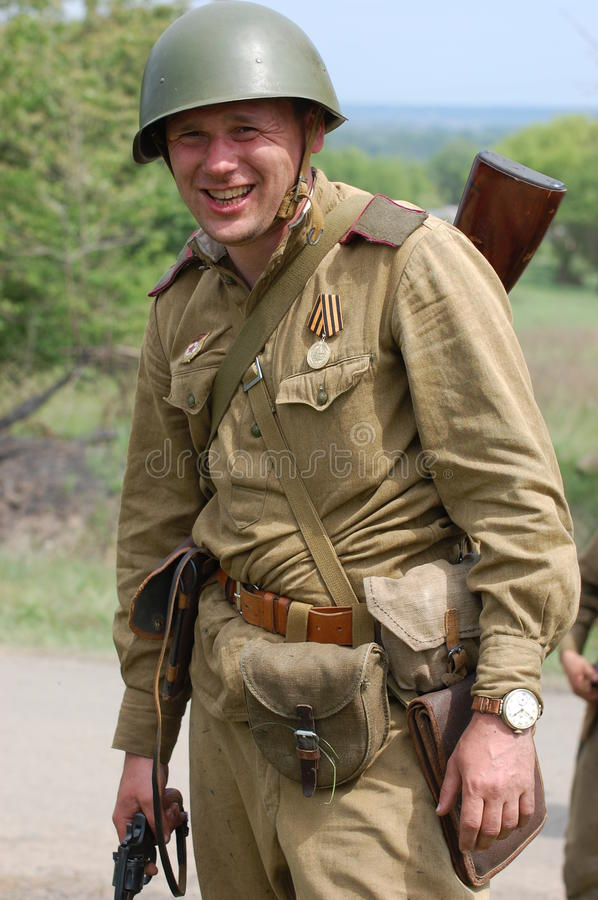Russian soldier of WW2 royalty free stock photography