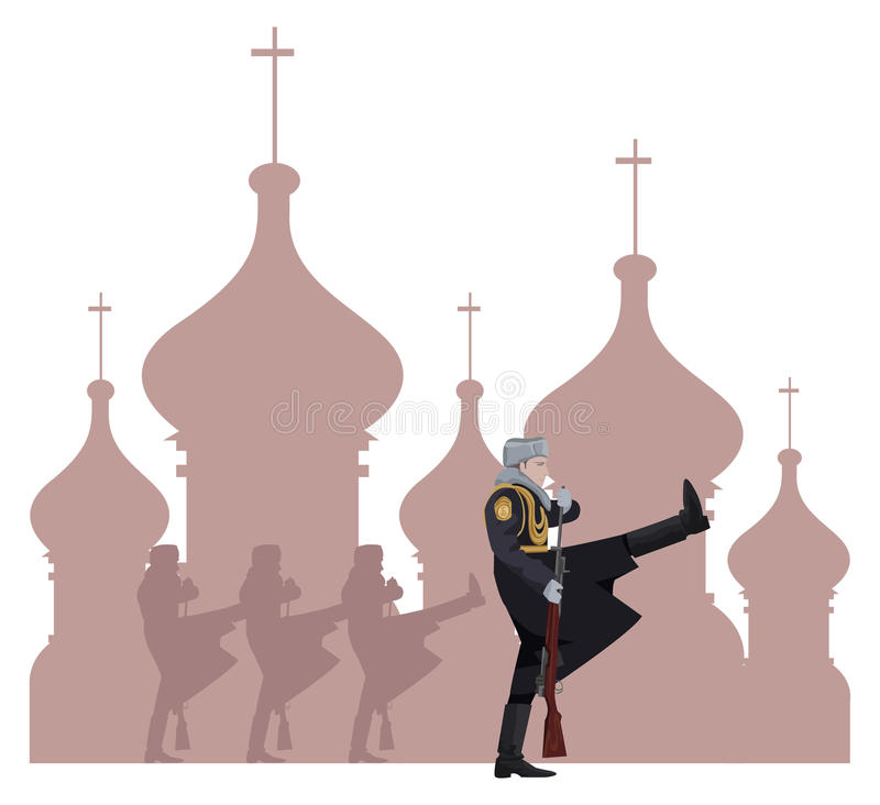 Russian Soldiers royalty free illustration