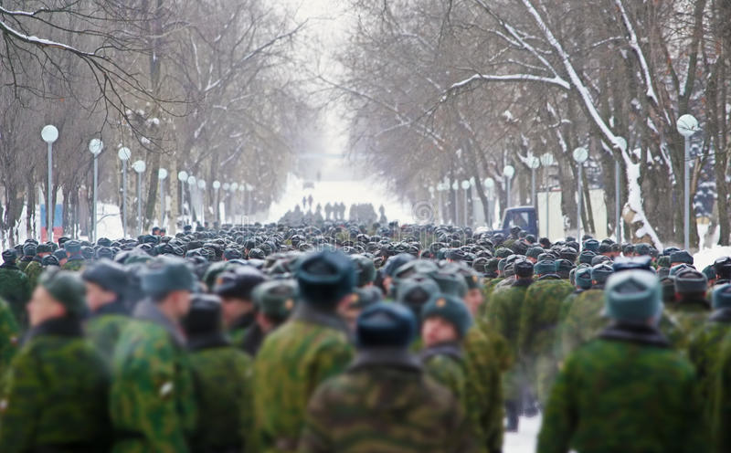 Download Russian soldiers stock photo. Image of uniform, green - 62357826
