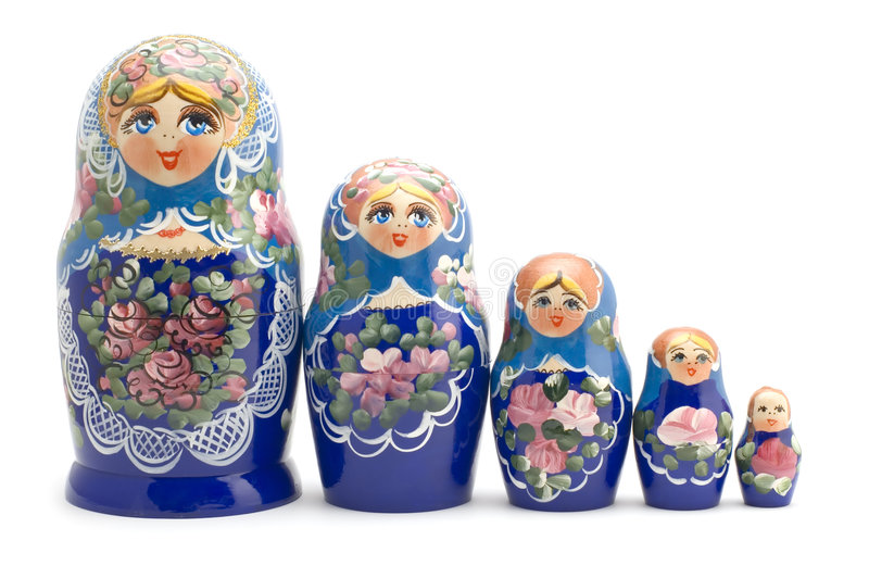 Download Russian souvenir close up stock photo. Image of container - 5890976