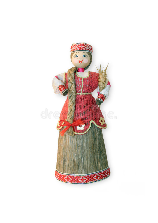 Russian souvenir doll. The Reaper stock photos