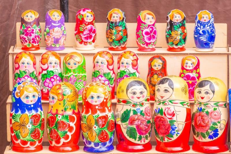 Russian souvenirs. Nested dolls. Samara stock photo