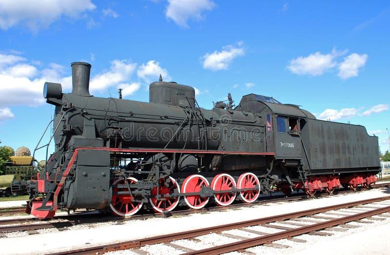 Russian and Soviet cargo engine of the AYR-170665 series. Technical museum K.G. Sakharova. Togliatti royalty free stock photos