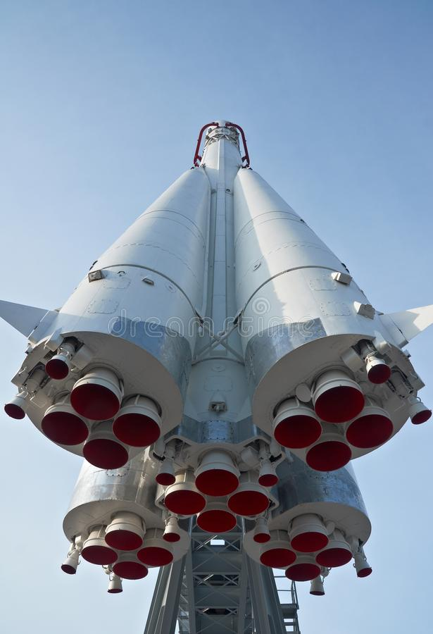 Russian spaceship Vostok. Is in main national exhibition centre in Moscow royalty free stock photos