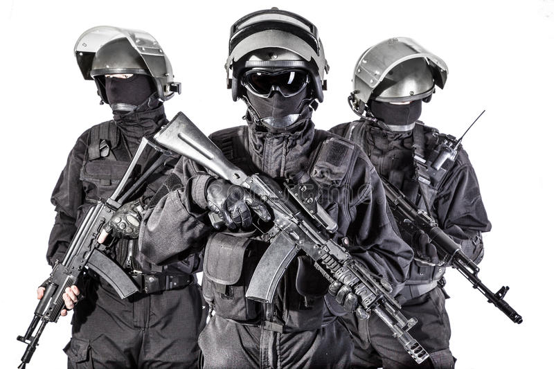 Russian special forces stock photography