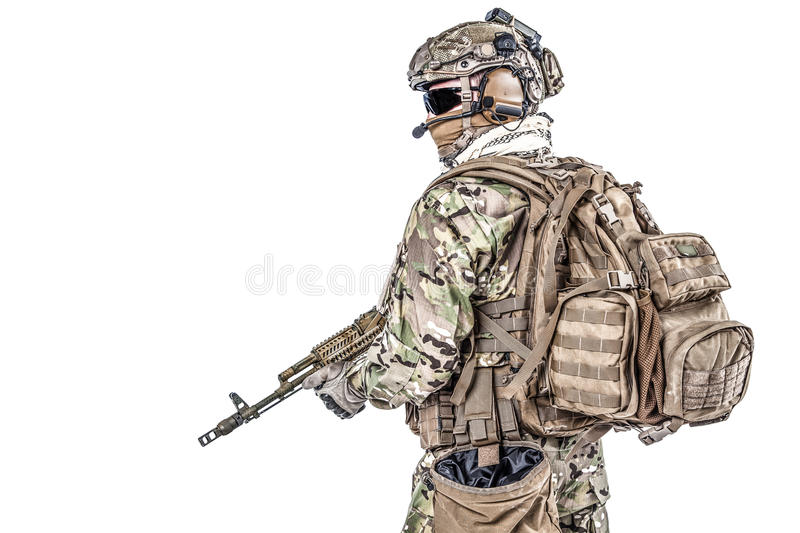 Russian special operations forces royalty free stock photography