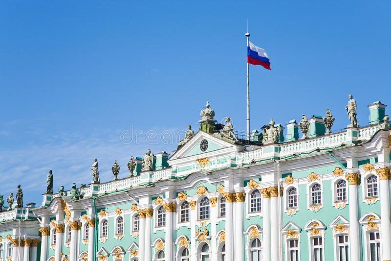 Download Russian State Flag On Winter Palace Stock Image - Image: 21397297