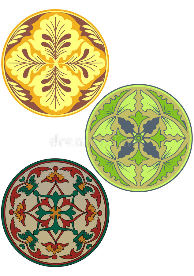 Russian style color ornament royalty free stock image