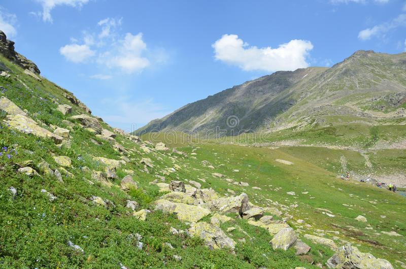 Russian Summer Mountain Landscape In The Caucasus ...