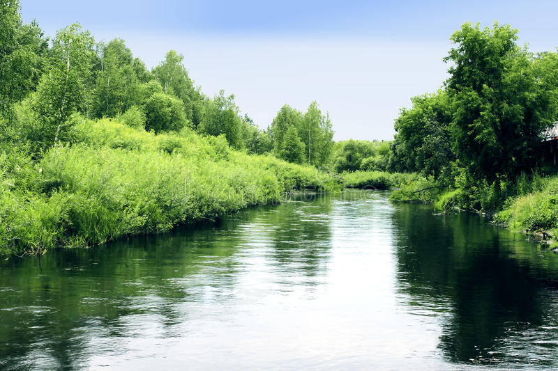 Russian summer river stock images
