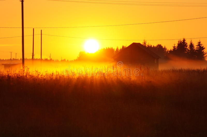 Russian sunset royalty free stock photos
