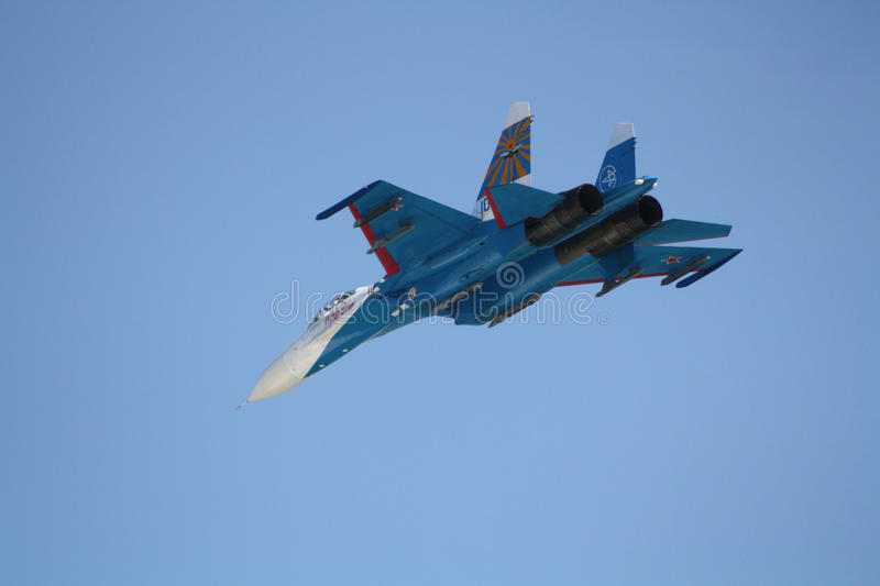 Download Russian Supersonic Fighter Su-27 Editorial Photography - Image of fire, abrupt: 26794577